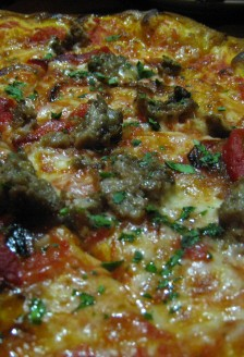 Italian sausage pizza, Nook, 781 Denman Street, West End, Vancouver, BC
