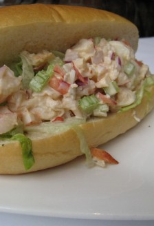 Lobster roll, Cork and Fin, 221 Carrall Street, Gastown, Vancouver