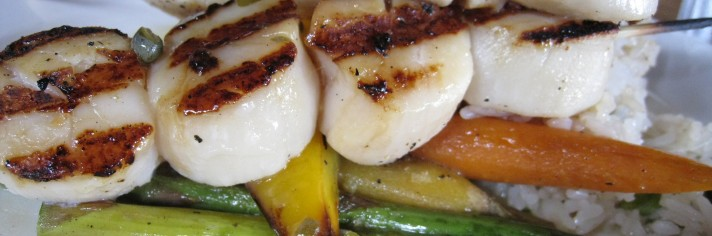 Grilled Scallops, Cardero's, 1583 Coal Harbour Quay, Vancouver